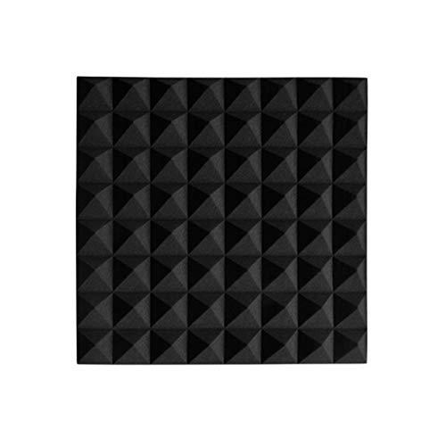 5 cm hoge kwaliteit akoestisch schuim tegels Home Use wandtegels akoestisch Studio geluidsabsorber katoen Zwart