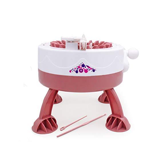 CYzpf Strickmaschine 22 Nadeln Stricken Webrahmen Maschine Weaving Loom Rundstrickmaschinen für Socken Hut Knitting Machine Erwachsene & Kinder,pink