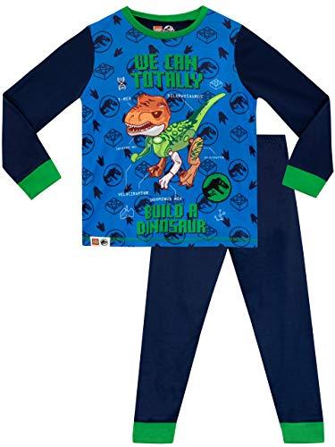 LEGO Jurassic World Pijamas de Manga Larga para niños Azul 11-12 Años