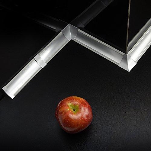 [DQ-PP] Endstück für Winkelleisten Aluminum matt für Küchen 23mm x 23mm Arbeitsplatten Grundprofil Abschlussleiste Küchenabschlussleiste Tischplattenleisten