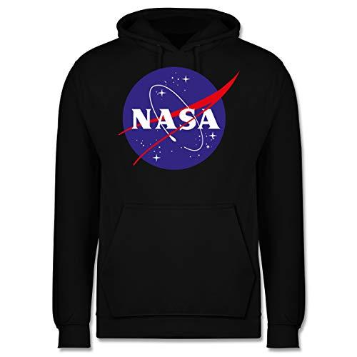 Statement Shirts - NASA Meatball Logo - XS - Schwarz - JH001 - Herren Hoodie und Kapuzenpullover für Männer