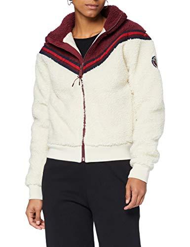 Superdry Womens Storm Preppy Boyfriend FIT Cardigan Sweater, Pale Oatmeal, S (Herstellergröße:10)