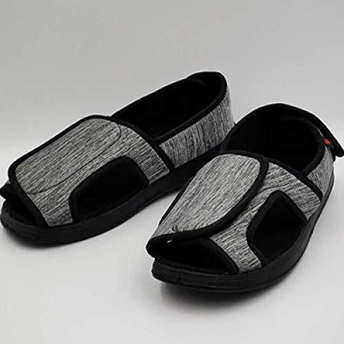 Nwarmsouth Zapato Unisex de Salud para Adultos,Zapatos Sueltos de pies hinchados Ancianos, Sandalias de atención hospitalaria-41_ Gris,Zapatillas de pies hinchados