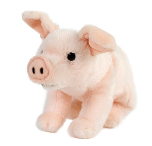 Schwein Schweinchen Ferkel Glücksschwein, 22 cm, Plüschtier rosa, Kuscheltier