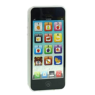 Cooplay Black Yphone Y-Phone Phone Toy Play Music Learning English Educational Cell Phone Mobile Gift Prize for Baby Kids Children by Cooplay