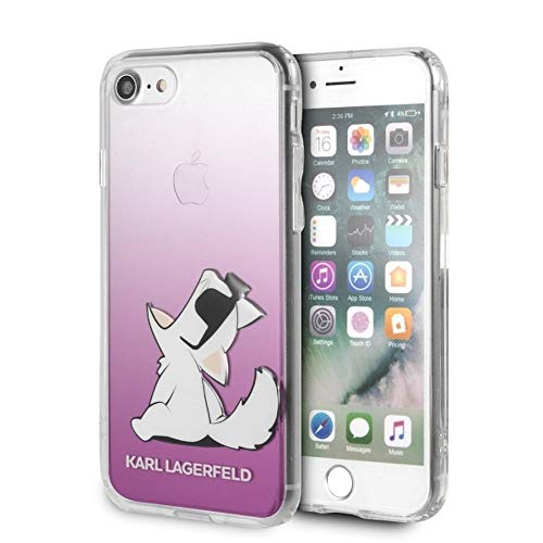 Karl opslagveld KLHCI8CFNRCPI Fun Choupette Glasses Hard Case voor iPhone 8