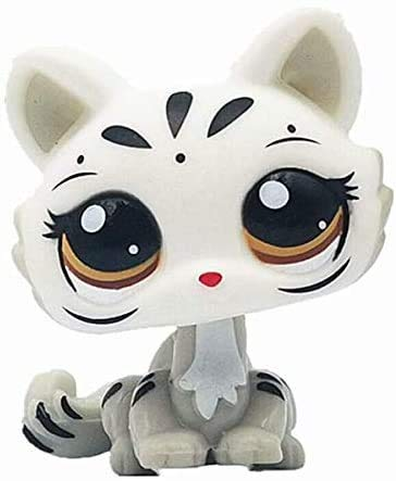 Greneric Littlest Pet Shop Big Eye Cat Kitten, Rare LPS Toy Sparkle Action Figures Kids Toy Gift