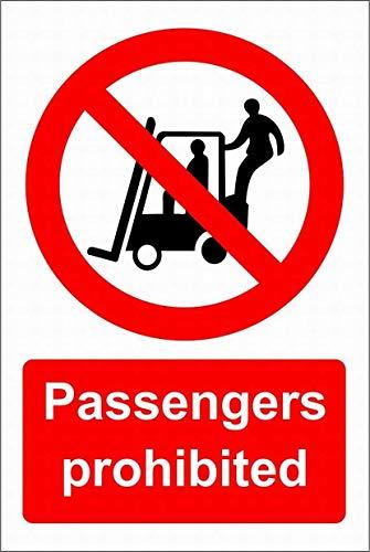 Passengers Prohibited Blechschild Retro Blech Metall Schilder Poster Deko Vintage Kunst Türschilder Schild Warnung Hof Garten Cafe Toilette Club Geschenk