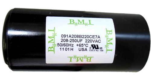 208-250 MFD (uF) 3 HP Well Pump Control Box Motor Start Capacitor, Replacement for Franklin 275463111, 2823028110, 2823028310 TCB30M230 Made in USA by BMI