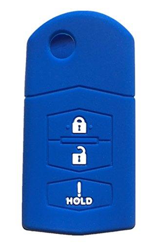 Rpkey Silicone Keyless Entry Remote Control Key Fob Cover Case protector Replacement Fit For Mazda 2 3 5 6 CX-5 CX-7 CX-9 RX-8 MX-5 Miata BGBX1T478SKE125-01 662F-SKE12501 SKE12501 KPU41788