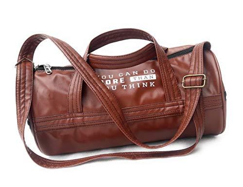 Maharth Gramin Udyog Imitation Leather Duffle Luggage/Travel/Gym Bag (Brown)