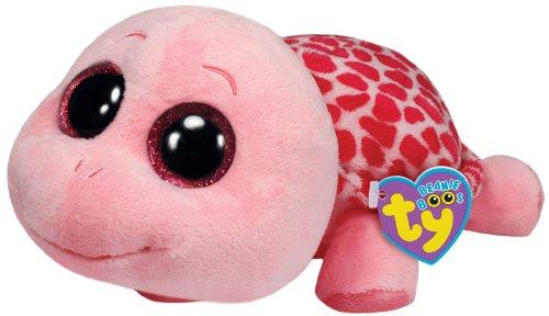 TY 36988 36988-Plüschtier Beanie Boos Myrtle Buddy Schildkröte, Large, pink