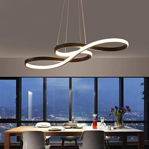N/Z Equipo para el hogar Iluminación Interior Candelabro Moderno Colgante Accesorio de iluminación de Techo Aluminio 75 * 32 * 30 cm Luz LED (Color: Negro) (Color: Negro)
