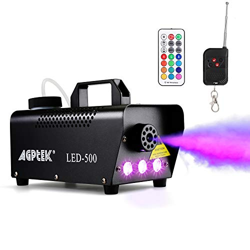Fog Machine, AGPTEK Automatic Spray Smoke Machine with Colorful LED Light Effect, Wireless and Wired...