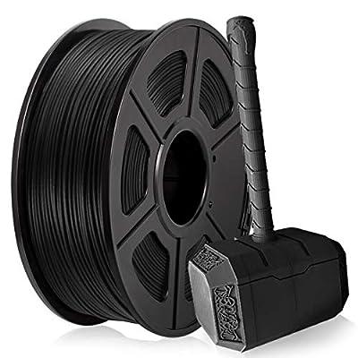 Carbon Fiber PLA Filament, PLA Carbon Fiber 3D Printer Filament 1.75mm for 3D Printer 3D Pen, Extremely Rigid 3D Printer Filament 1KG (2.2 lb) PLA Black