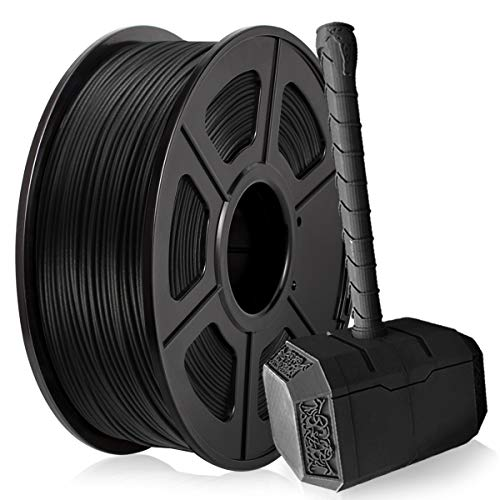 Carbon Fiber PLA Filament, PLA Carbon Fiber 3D Printer Filament 1.75mm for 3D Printer 3D Pen, Extremely Rigid 3D Printer Filament 1KG (2.2 lb) PLA Black