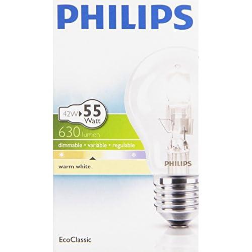 Philips - Lampada, 42w, Intensità regolabile, Luce calda
