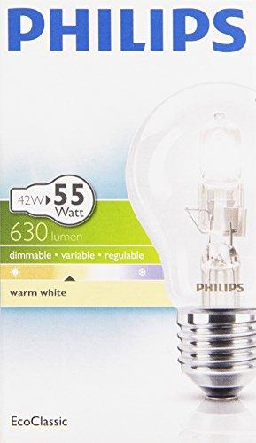 Preisvergleich Produktbild Philips 25171525 Classic 30 E27 A60 Brilliantes Halogenlicht 40W in Glühlampenform,  klar