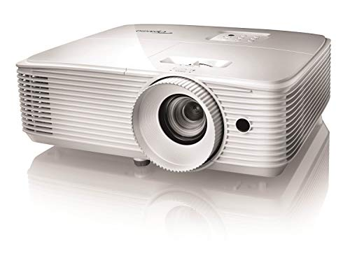 Optoma HD27e, Proyector Gaming Home Cinema Full HD 1080p, Formato 16:9, 3400 Lúmenes, Blanco