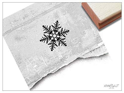 Stempel Weihnachtsstempel SCHNEEFLOCKE Eiskristall - Bildstempel Winter Weihnachten Karten Geschenkanhänger Geschenk Weihnachtsdeko - zAcheR-fineT