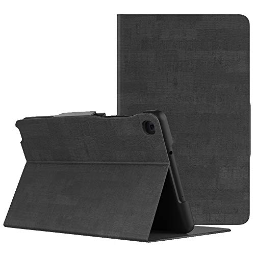 MoKo Funda Compatible con Samsung Galaxy Tab A with S Pen 8.0 2019, Cubierta Ligera Anti-Choque Stand Fución Case Cover para Galaxy Tab A with S Pen 8.0 SM-P200 (Wi-Fi)/SM-P205 (LTE) - Pizarra Negro