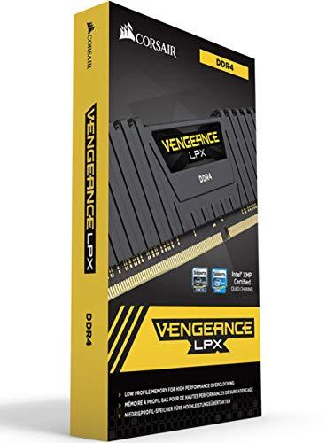 Corsair Vengeance LPX - Módulo de Memoria XMP 2.0 de Alto Rendimiento de 32 GB (2 x 16 GB, DDR4, 2400 MHz, C16) Color Negro
