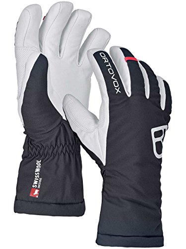 ORTOVOX Damen Swisswoll Freeride Handschuhe, Black Raven, M
