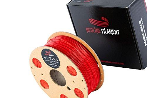 Filament 1.75 PLA 1kg für deinen 3D-Drucker - Hartkartonspule - Premium Qualität aus Holland (Rot)