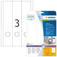 HERMA 10185取り外し可能なファイルラベルA4 61 x 297 mm白可動/取り外し可能紙マット不透明75個
