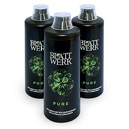 3x 1 litre BLATTWERK Engrais universel organique pur, végétalien et NPK organique. Engrais naturel liquide à base d…