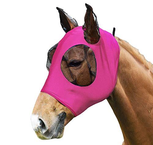 SISIEU Fliegenmaske,Horse Fly Lycra Mask, mit Ohrenschutz,Mesh Vermeidet UV-Strahlen, für...