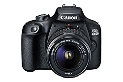 Canon EOS 4000D DSLR Camera and EF-S 18-55 mm f/3.5-5.6 III Lens