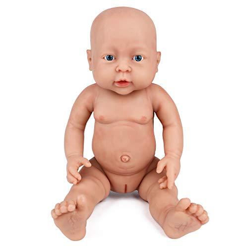 Vollence Bambola Reborn realistica da 40 cm, Senza PVC, Bambole Solide con Silicone Che riempie Tutto Il Corpo -Bambola Reborn realistica, Bambola Fatta a Mano realistica del Bambino – Ragazza