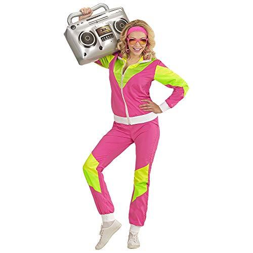 Widmann - kostuum jaren 80 trainingspak XX-Large Pink/Gelb/Grün