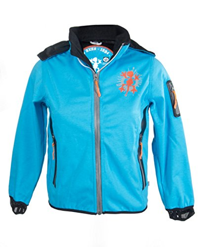 XS Exes Softshell Jacke mit Alarmfunktion blau 306091, Größe 128