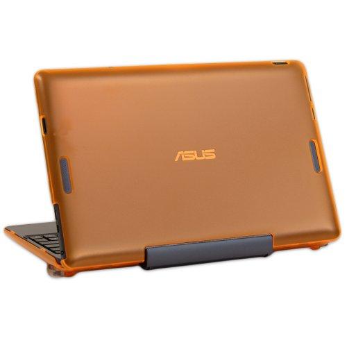 mCover Funda Dura para 10.1' ASUS Transformer Book T100TA/TAM/TAF Serie 2-en-1 Ordenador portátil(**500GB HDD Solamente**No es Compatible con T100HA/TAL**) - Naranja