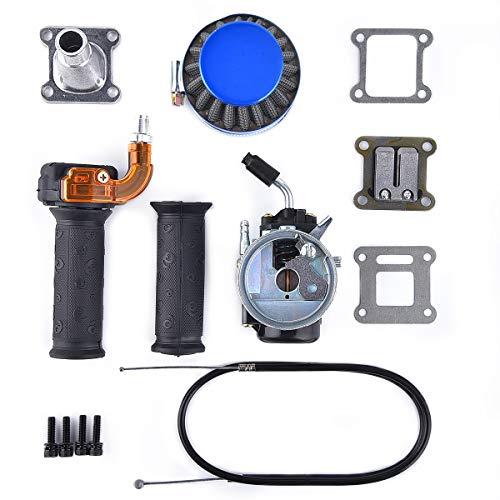 Performance Carb Carburetor Air Filter Assembly Compatible with 2-stroke 47cc 49cc Mini Pocket Bike Quad Chopper ATV Blue