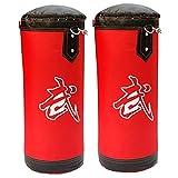 ZWJ Bolsa de Boxeo de Kick, Escritorio Bolsa de perforación Colgando de la Bolsa de Arena de Alto Grado Paño Rojo 80-120 cm (Color : Red, Size : 100cm)
