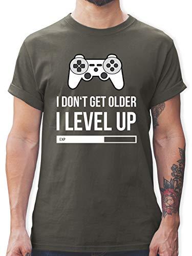 Geburtstag - I Don't get Older I Level up - M - Dunkelgrau - paluten Shop - L190 - Tshirt Herren und Männer T-Shirts
