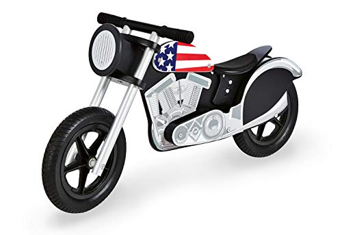 Pinolino Laufrad Motorrad Cooper, bunt lackiert, aus Holz, unplattbare Bereifung, Sattel höherverstellbar, empfohlen ab 3 Jahren