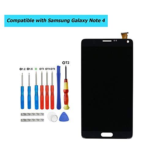 E-YIIVIIL - Pantalla LCD de repuesto compatible con Samsung Galaxy Note 4 SM-N910C, SM-N910F, pantalla LCD táctil con kit de herramientas (color negro sin marco)