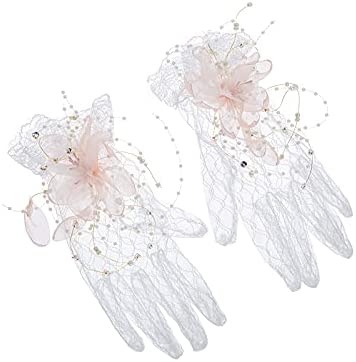 Tgnk Max 47% OFF Marriage Short Popularity Gloves Fairy Accessories Wedding haired Col