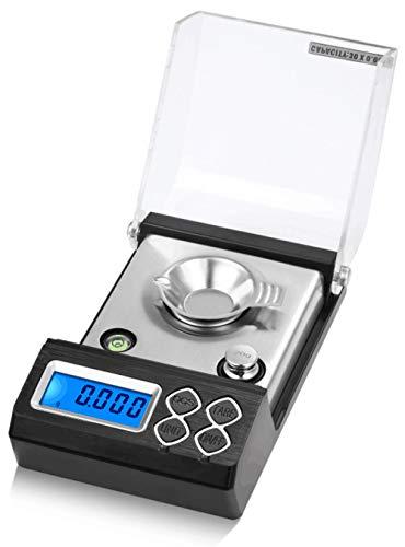 Escala de quilates de alta precisión 0 001g para joyería Escala de oro de diamante Balanza electrónica de laboratorio de bolsillo Escala de miligramos digital