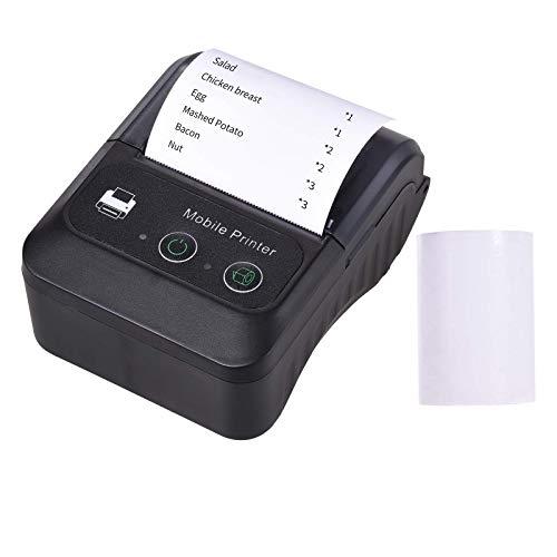 Bärbar trådlös BT 58mm 2-tums termisk kvittoskrivare Mini USB-faktura POS mobil skrivarsupport ESC/POS-utskriftskommando Kompatibel med Android/iOS/Windows för småföretag Restaurang