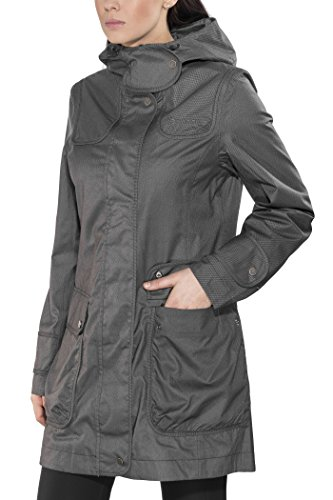 Finside Joutsen graphit melange Damen Zip In Outdoor Parka