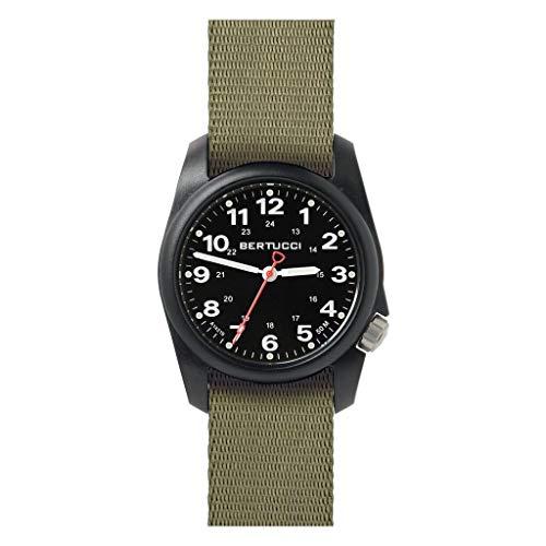 Bertucci A-1R Field Comfort 10501 - Reloj de pulsera para hombre, correa de nailon y cuarzo, color negro
