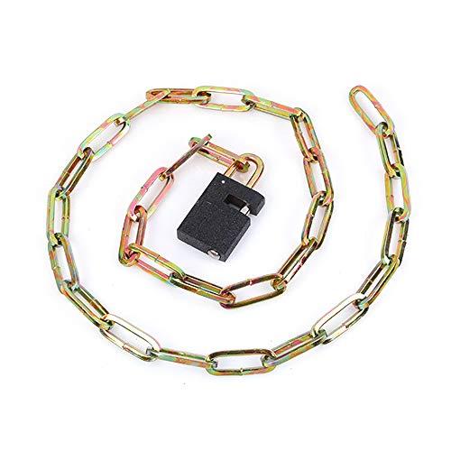 TOPmountain Cadena de acero con candado – Cadena robusta con candado + 3 llaves – Longitud 100 cm – Se puede cerrar – Hogar & taller