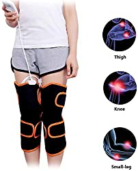 FQDS Knee Pad Joint Warmth Knee Physiotherapy Device Heats The Legs of The Elderly Electric Heating Pad for Knee Leggings Massage Modes