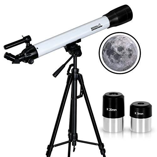天体望遠鏡 セット 望遠鏡アクセサリ 屈折式 経緯台式 接眼レンズ2個 K9 K20 軽量 HD高倍率 2021年進化型 子供や初心者 大口径70mm 焦点距離700mm f 10 日本語説明書付き (70mm)