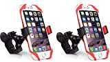 2X Universal Motorcycle Bicycle Bike Handlebar Mount Holder for Cell Phone GPS